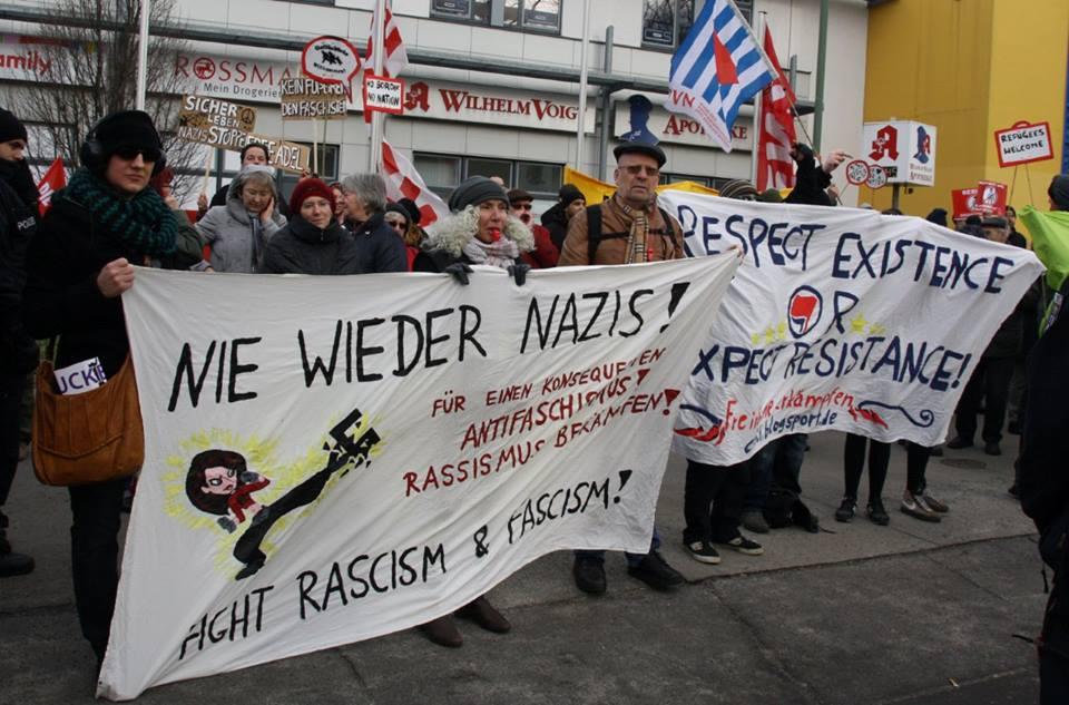 Kundgebung gegen Nazis am 8. Februar 2014 in Köpenick