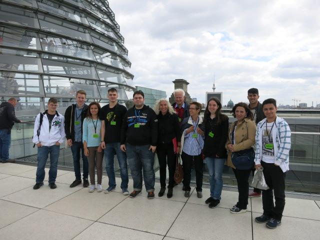 Schülergruppe besucht den Bundestag