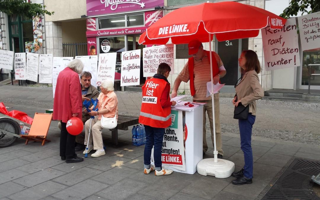 Kundgebung gegen Zwangsverrentung, Altersarmut und Behördenwillkür