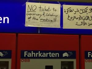 Tickets aus dem Automaten werden in Zügen von Österreich nach Deutschland nicht anerkannt werden