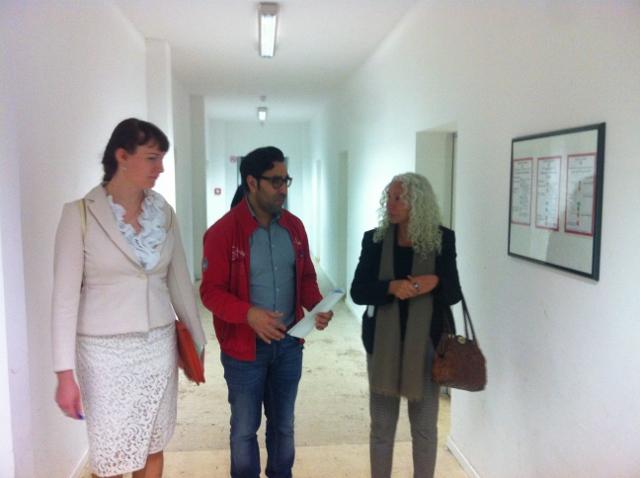 Besuch der Flüchtlingsaufnahmeeinrichtung in Berlin-Marienfelde
