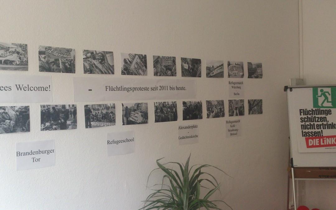Ausstellung: Refugeeproteste seit 2011 bis heute