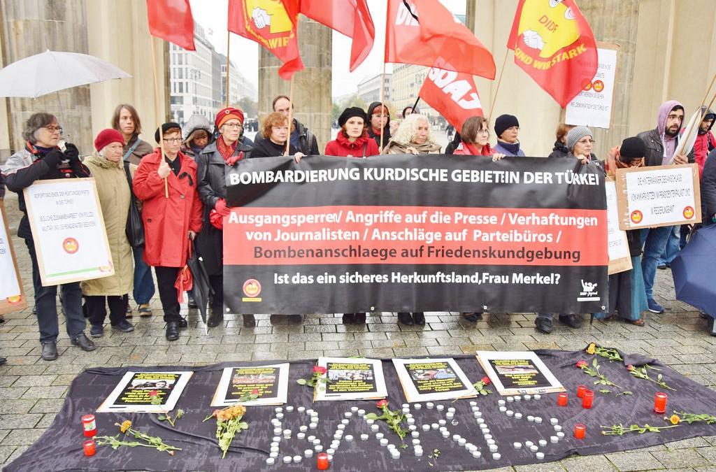 Mahnwache für die Opfer des Anschlages in Ankara