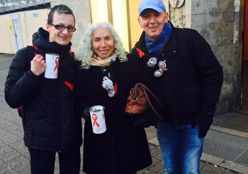 Spendensammeln für die Berliner Aidshilfe